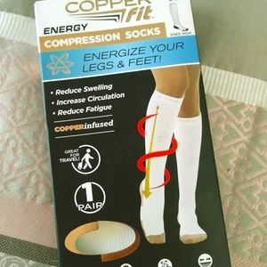 Copper Fit Knee High Compression Energy Socks